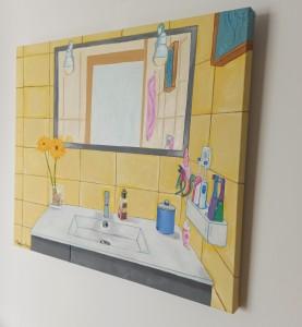 Bathroom painting, oilpainting